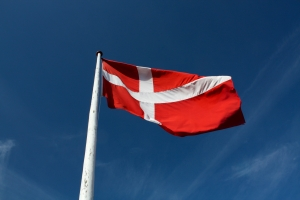 danska flaggan - Resa till Danmark